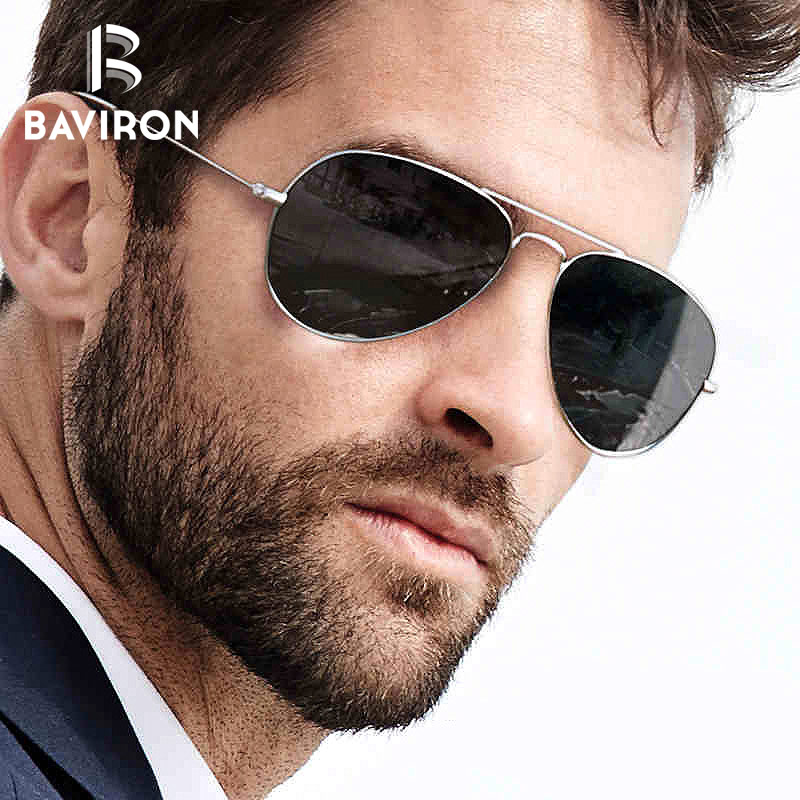 BAVIRON Night Driving Sunglasses Men Al Mg Glass Wrap Square ...