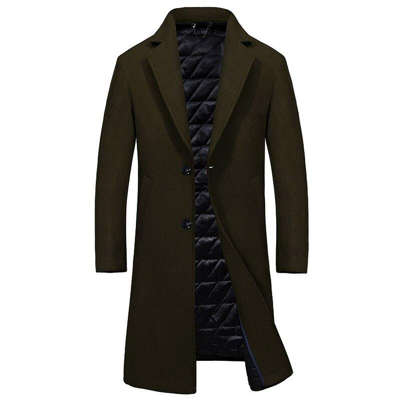 2018 Autumn Jacket Men Cotton Stand Collar Multi pockets Medium long Cargo Safari Military Men AFS