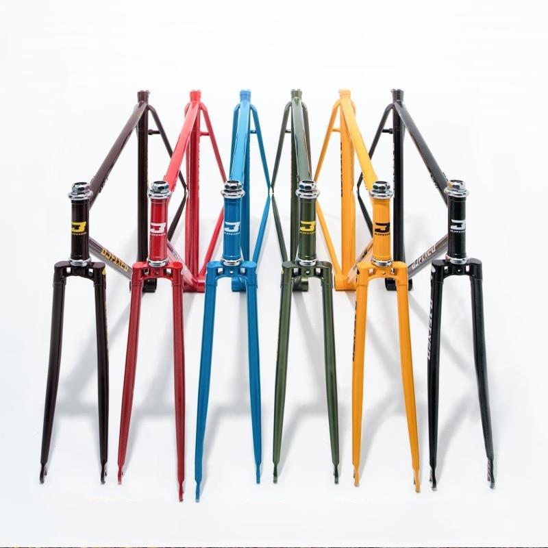 520 Chrome molybdenum steel frame 52 cm 54 cm  fixed gear bike restoring  road bike frame 700 C  Fixed Gear Bike frame