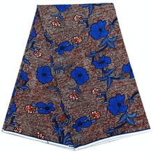 Dutch wax Ankara African prints fabric 2019 latest pure cotton printed pattern 6 yards