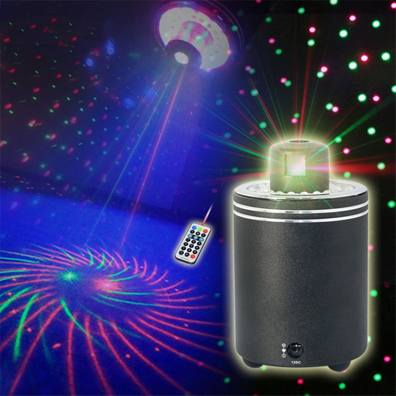ZjRight 360 Degree Rotation Red Green Laser Stage Light Full Color Projector LED Lighting Concert Party Disco Dj Effect Lighting