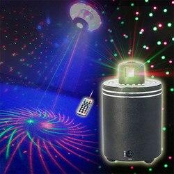 ZjRight 360 stopni obrót czerwony zielony laser światło sceniczne kolorowy projektor oświetlenie LED koncert Party disco dj efekt oświetlenia w Oświetlenie sceniczne od Lampy i oświetlenie na