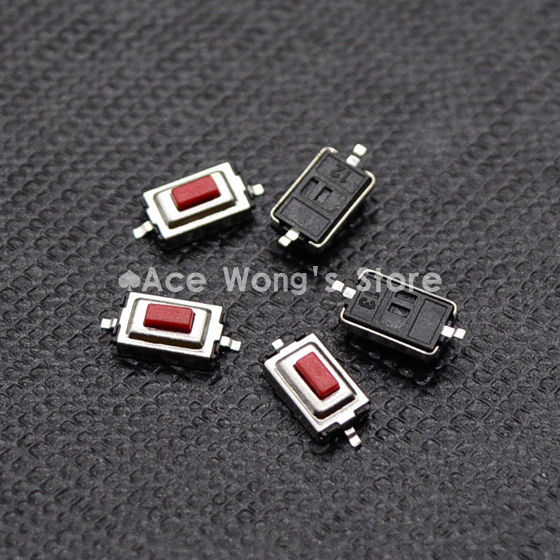 100PCS/Lot 3*6*2.5MM 3X6X2.5MM Tactile Tact Push Red Button Micro Switch Momentary 50pcs lot smt 3x4x2 5mm 4pin tactile tact push button micro switch g75 self reset car remote control switch free shipping
