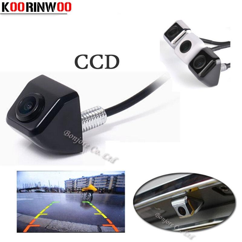 Koorinwoo Parking CCD a prueba de agua Universal HD Cámara de visión trasera Retroceso Cámara de visión nocturna reversa para Audi / Ford / Toyota