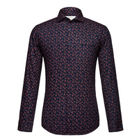 Floral Printed Shirt Men 2017 Brand New Long Sleeve Mens Dress Shirts Casual Slim Fit 100