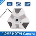 """1.3 Mega pixel HD 720 P TVI Fisheye Panoramic Camera 360 Graus Vista Angle de 1/3 """"CMOS Câmera de Segurança CCTV Lente de 1.56mm Para TVI DVR"""