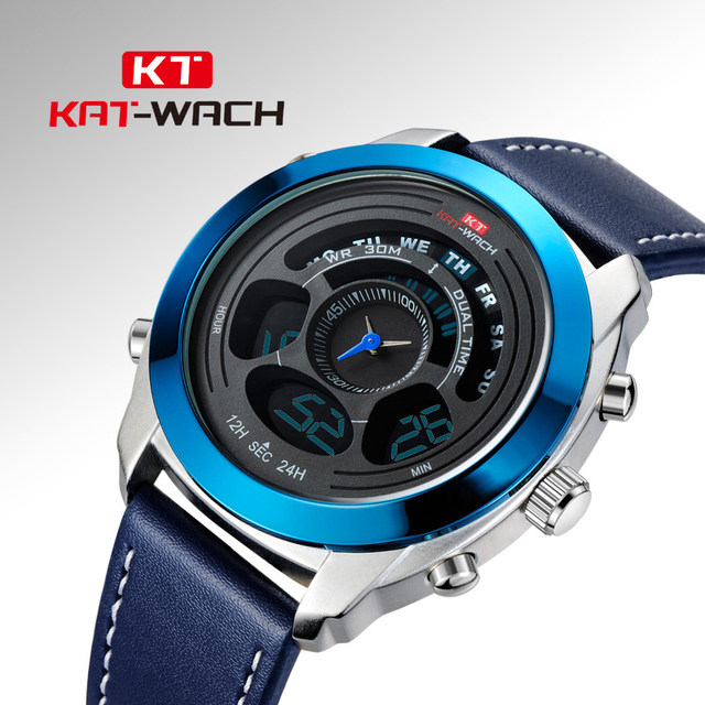25ee4ee3557 Esportes homens Relógios Tendência KAT-WACH Luminous Quartz Relógio De  Pulso de Marcas De Luxo