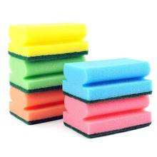 Multicolored Strong Decontamination Cleaning Sponge 5 Pieces Dropshipping