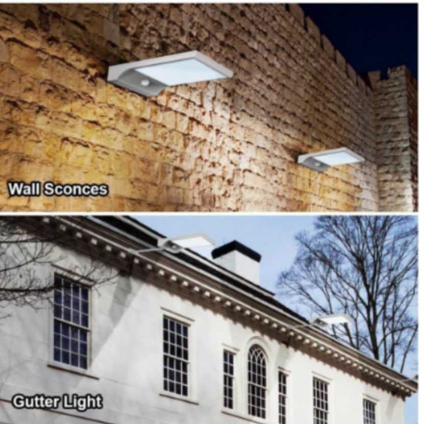 2Pcs 450LM 36 LED Solar Power Street Light PIR Motion Sensor Lamps Waterproof Garden Security Lamp Outdoor Street Wall Lights