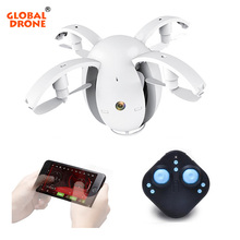 Global Drone RC Helicopter FPV Foldable Drone Mini Selfie Drone K130 Egg Shaped Drone with Camera HD RC Quadcopter Toys for kids