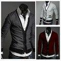 Bolso com zíper de lã cashmere masculino cardigan outerwear Frete grátis, 2014 homem bolso com zíper importados lã suéter