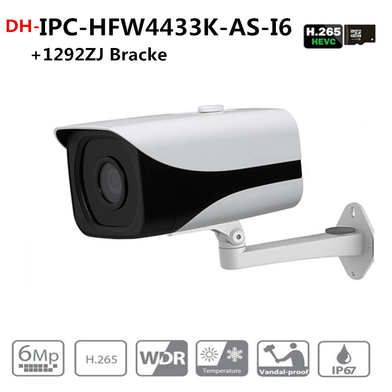 DH IPC-HFW4433K-AS-I6 Starlight Camera 4Mp POE SD Card slot Audio Alarm interface IP67 IR150M Bullet camera with bracket dahua ipc hfw4431k as i6 stellar camera 4mp poe sd card slot audio alarm interface ip67 ir150m bullet camera with bracket