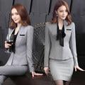 As mulheres usam moda terno feminino temperamento outono e inverno vestido de mangas compridas