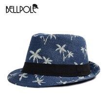 Bellpole unisex hombres sombrero de paja árbol de coco Jazz Sombreros de  fieltro vintage playa Panamá sombreros para las mujeres. 547ec495264