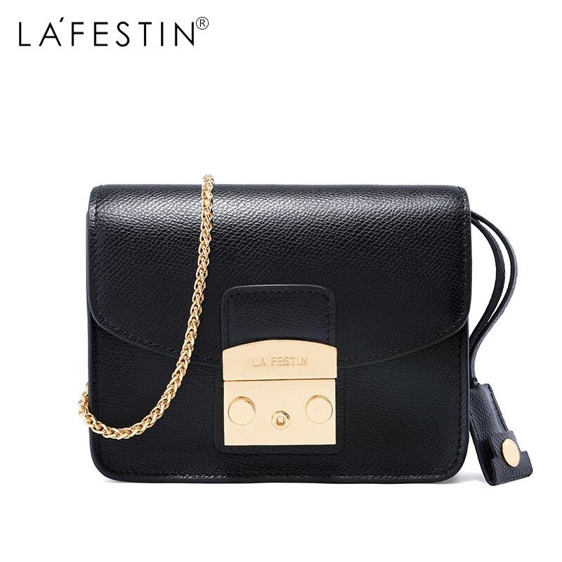 c4e459421405 US $35.8 50% OFF|LAFESTIN Famous Shoulder Bag Women Designer Real Leather  Flap Crossbody Bag Luxury Totes Multifunction brands Bag bolsa-in Shoulder  ...