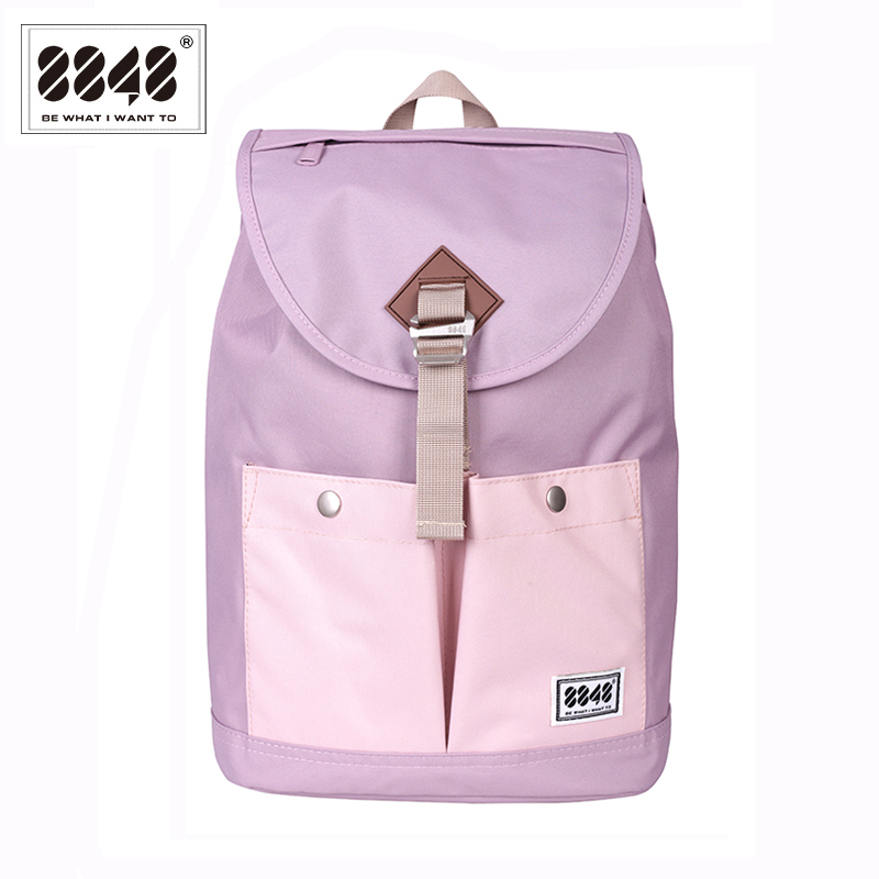 8848 Fashion Travel Bag Women Canvas Backpacks Ladies Shoulder School Bag Rucksack Girls 14 Laptop Bolsas Mochilas 132-028-009 2017 new women printing backpack canvas school bags for teenagers shoulder bag travel bagpack rucksack bolsas mochilas femininas