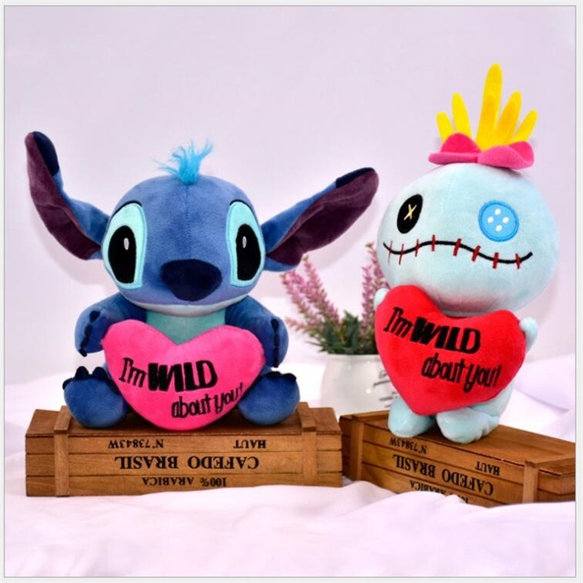 7414ae5bb0f4 2pcs Super Cute Lilo and Stitch with heart Plush Toys Doll Lovely Stitch  Toys for kids creative Valentine's Day birthday gifts-in Stuffed & Plush  Animals ...
