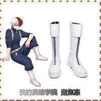 My Hero Academia Shoto Todoroki Cosplay Boots Boku no Hiro Akademia Handmade Shoes