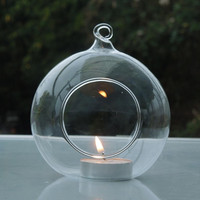 20pcs/pack Diameter=15cm 12cm 10cm 8cm 6cGlassTerrarium Candle Holder Wedding Glass Hanging ball Decoration Glass Terrarium Vase