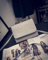 Yuhua, 2019 new women handbags, simple fashion flap, crocodile pattern messenger bag, trend Korean version shoulder bag.