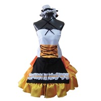 2018 VOCALOID Hatsune Miku Cosplay Costume Halloween Witch Skirt Dress Ver. with Hat Carnival Masquerade Cosplay Costume Girls W