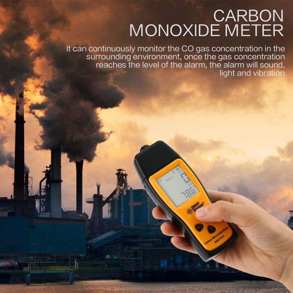 Tester Leak-Detector Gas-Monitor Carbon-Monoxide-Meter Handheld 1000ppm Co-Gas Portable title=