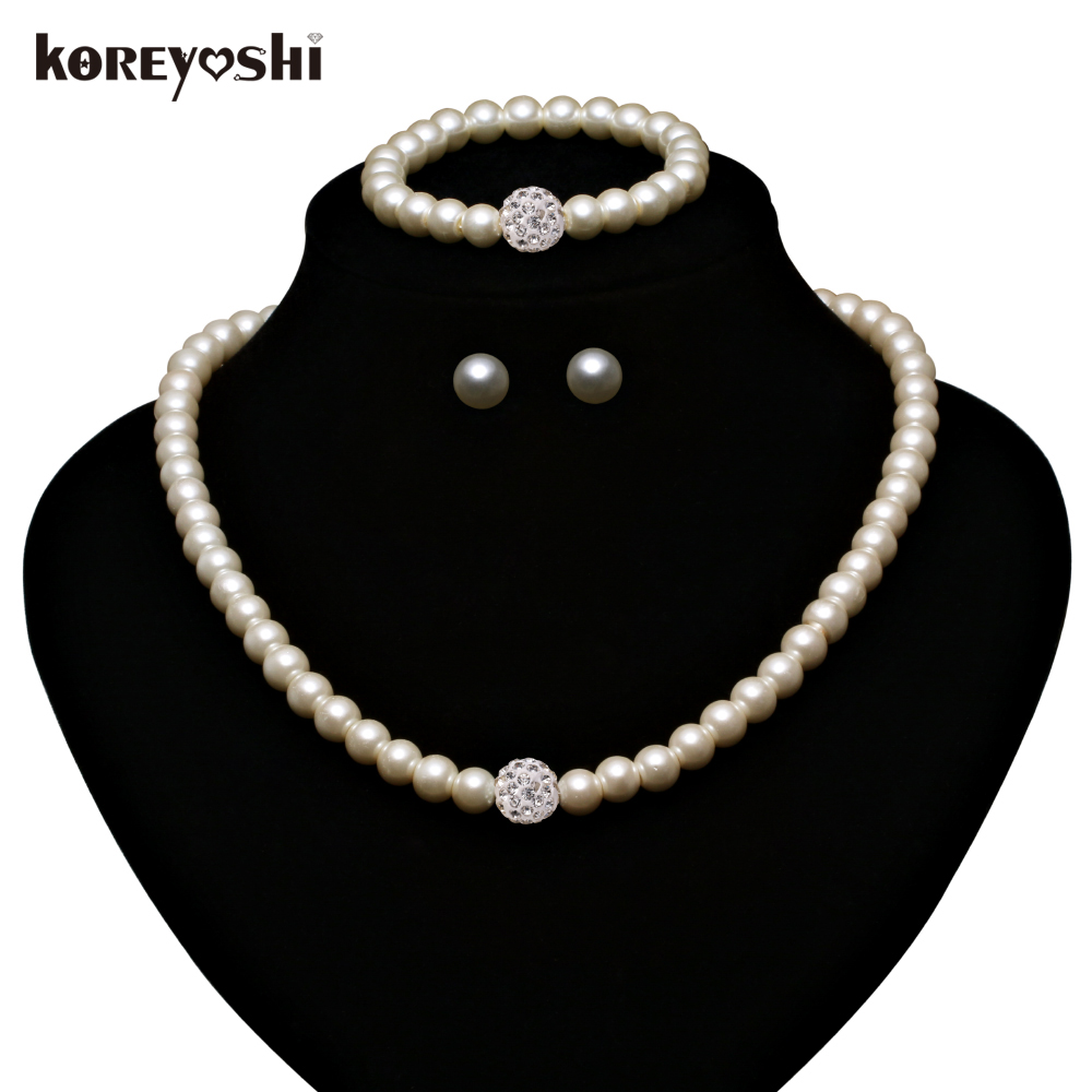 Pearl jewelry sets making fashion imitation natural beads for Decor jewelry