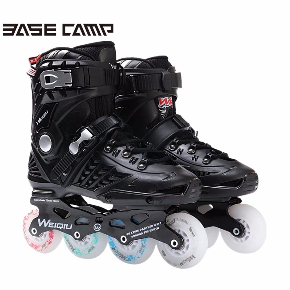 Basecamp 1 Paire Patins 8 Roues Full Flash LED Roue Patins Fantaisie Droite Rouleau Adulte Patins Professionnel Hommes & Femmes patins Chaussures