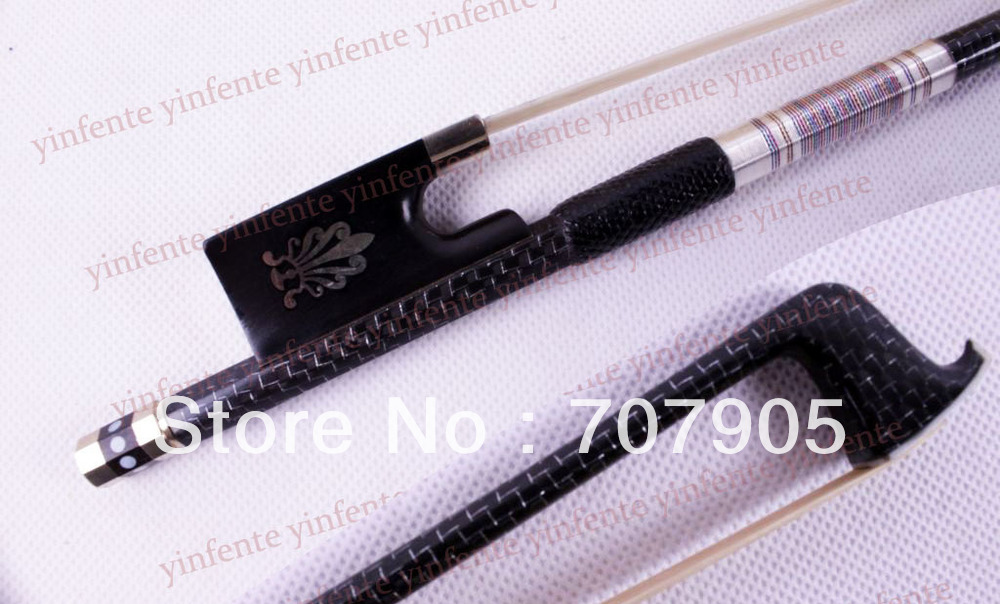 4/4 Violin Bow High quality Carbon Fiber Silver Color Bow string 4 4 high quality 5 string electric violin yellow 2 pickup violin