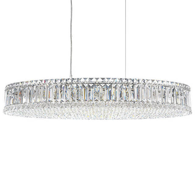 Modern crystal chandeliers plaza oval suspension