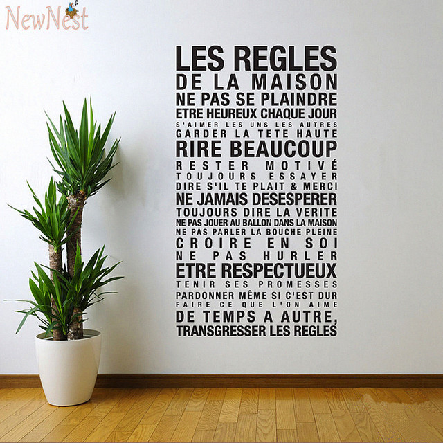 Französisch Haus Regeln Aufkleber \