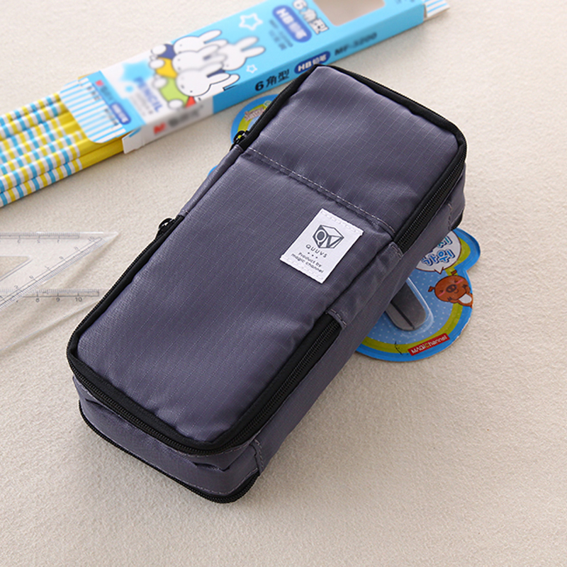 High Quality Canvas Large Capacity Multifunction Pencil Case Boys and Girls Student Stationery Pen Curtain Bags Box Suppl