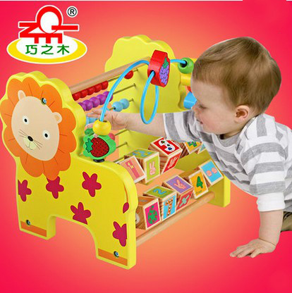 Children beads around the ball early childhood toy baby development good intellectual toys creative wooden math toy baby children maze toys intellectual development of children s educational classic toys gifts