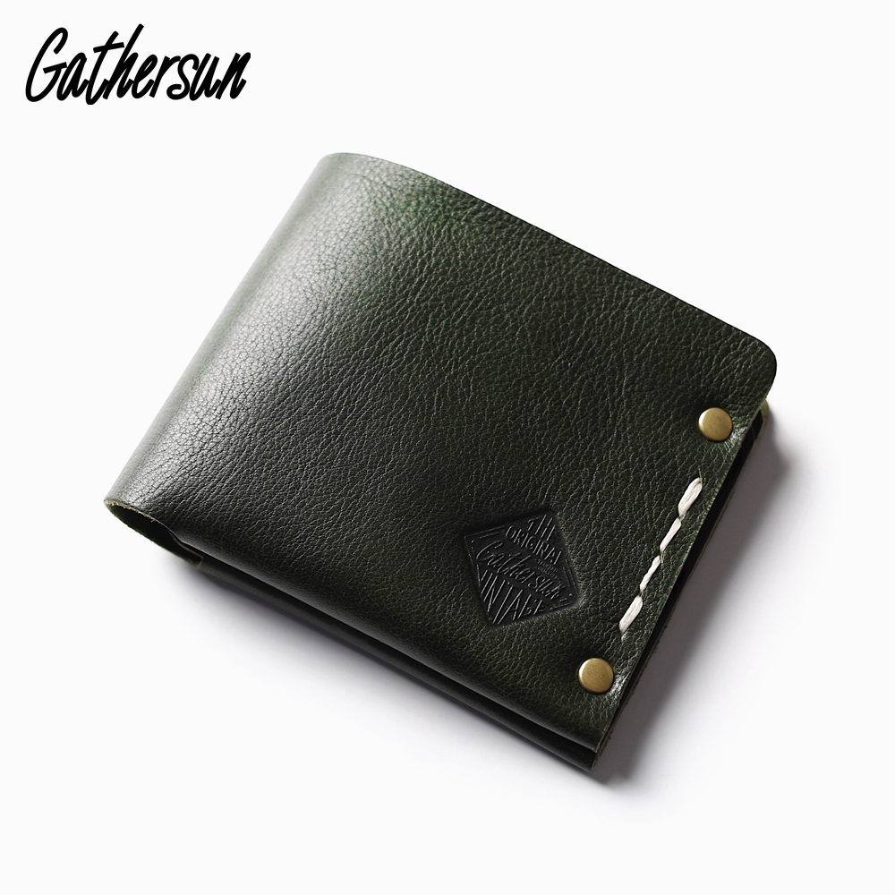 Rivet Wallet Leather Mens Handmade Vintage Wallet Italian Vegetable Tanned Leather Short Coin Pocket Wallet Men Purse LeatherRivet Wallet Leather Mens Handmade Vintage Wallet Italian Vegetable Tanned Leather Short Coin Pocket Wallet Men Purse Leather