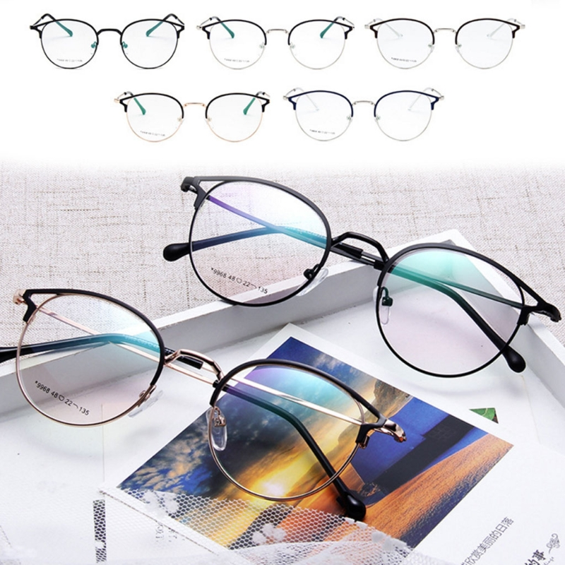 0e86c4afd9 2018 New Hot 1 Pc Men Women Optical Glasses Metal Frame Classic Clear  Fashion Eyewear Decorative Spectacles High Quality