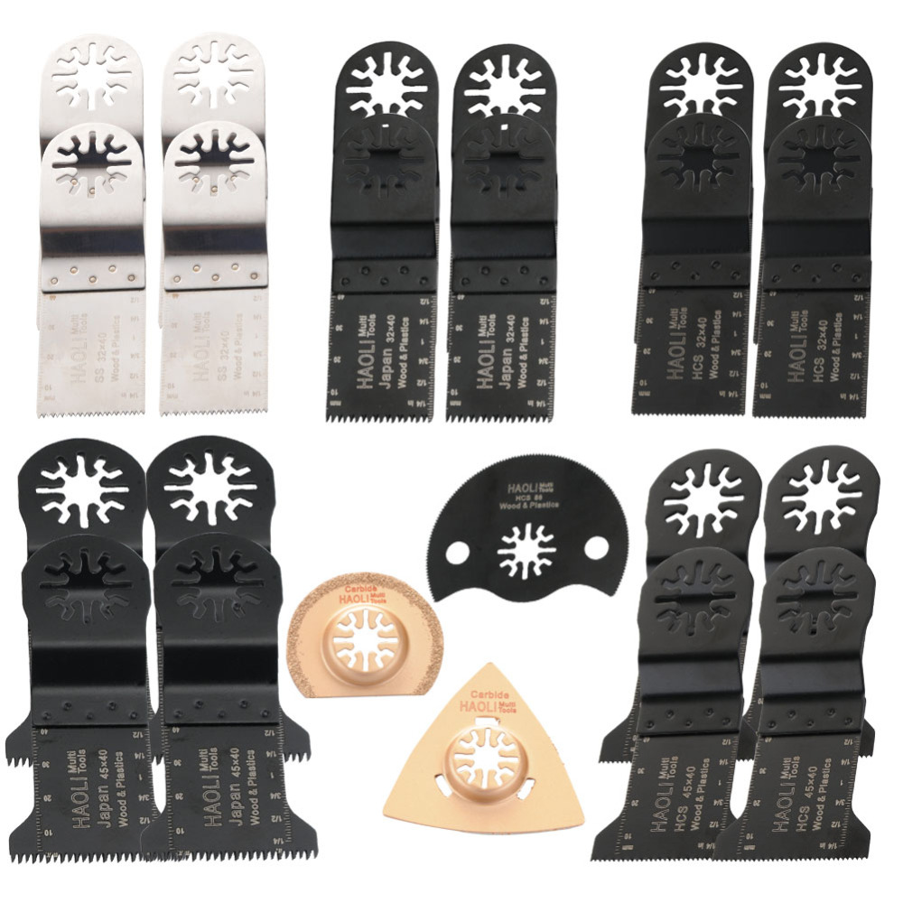 23 pcs 32-45mm Oscillating Multi Tool saw blades fit for TCH,Fein,Dremel etc,multifunction power tool,wood cutting