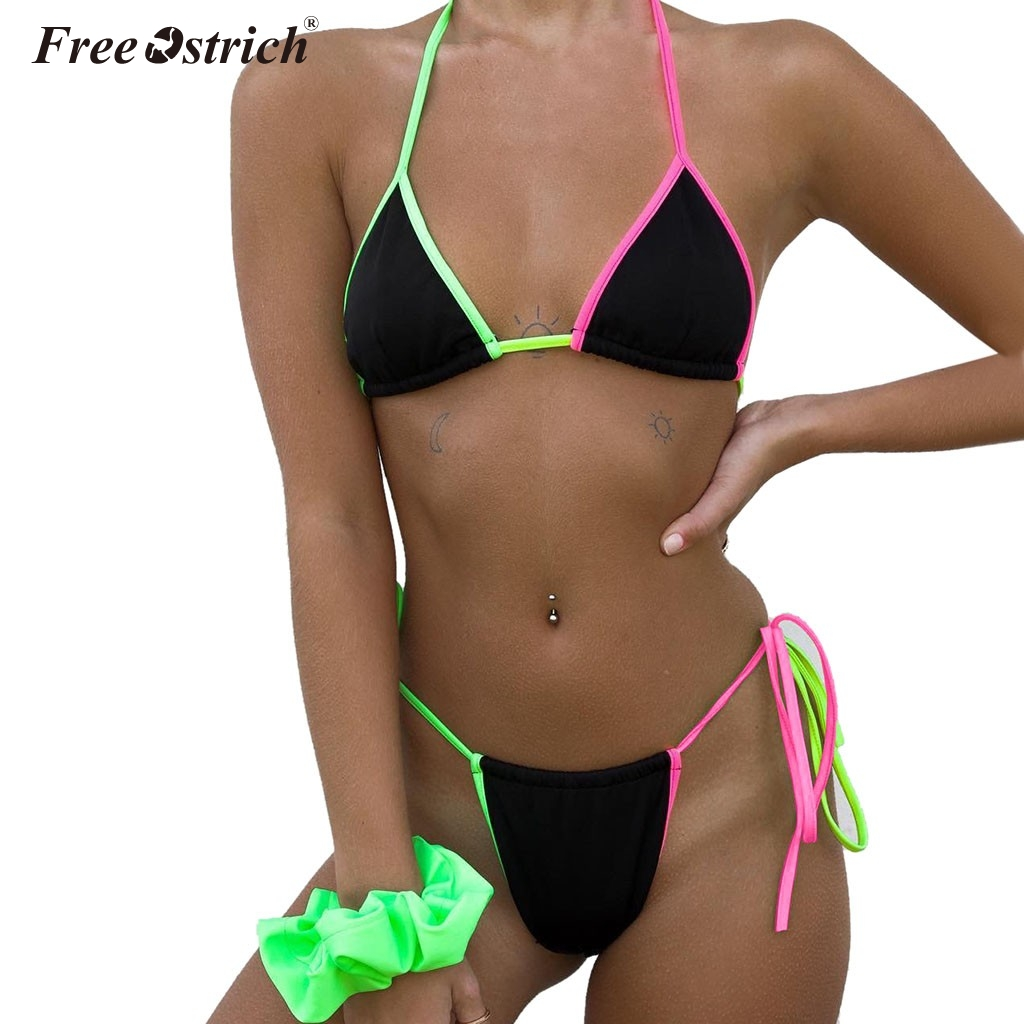 Free Ostrich Classic Wire Free Sexy Women   Bra     Set   Triangle Cup Lingerie Ultrathin Transparent Push Up   Briefs     Set   N30