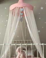 Lace Baby Canopy Round Princess Bed Canopy Baby Crib Mosquito Net Tent Curtains Kids Girls Room Decor Canopy Decoration for Bed