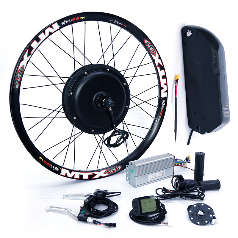 electric bicycle kit Cassette type 8s or 9s 52v <font><b>2000W</b></font> electric <font><b>bike</b></font> conversion kit with 52V 13AH TS lithium battery image