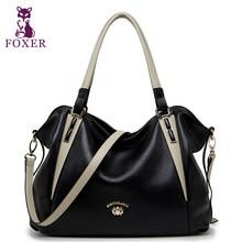 Foxer marke frauen aus echtem leder sollte tasche weibliche luxus taschen & tote frauen mode handtaschen