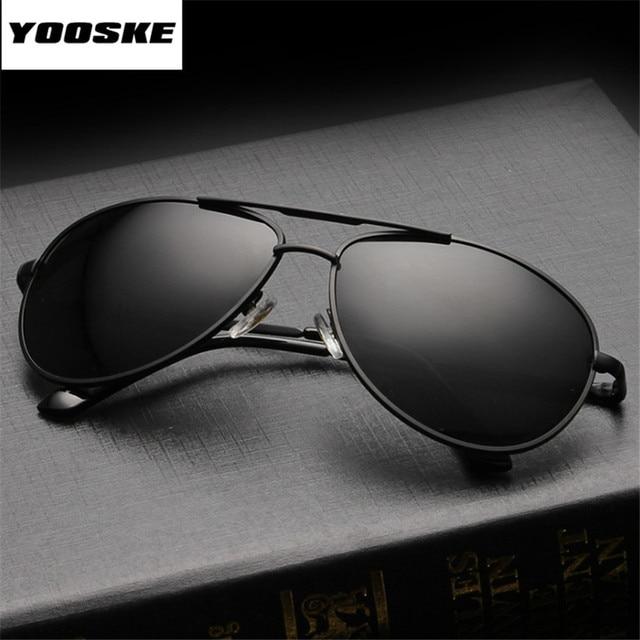 4596ec5748 YOOSKE Brand Polarized Sunglasses Men Women Driving Driver Sun Glasses  Vintage Rectangle Anti-UV Goggles