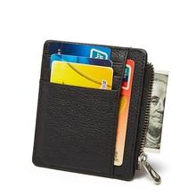 Мужчины кошелек визитница держателей кредитных карт портмоне бумажник мужчины натуральная кожа тонкий автобус карты ID держатель Multi- карта-бит