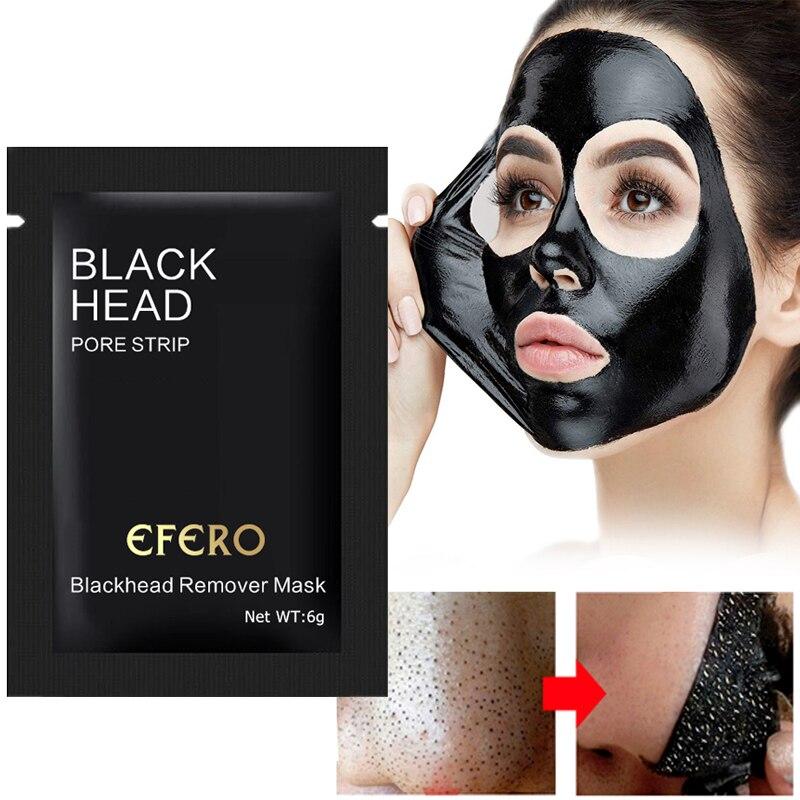 10 Pack Máscara Nariz Removedor De Cravo Acne Tratamento Black Mask Mud Peel off Black Head Máscara Tira Poros Cuidados Com A Pele descamação Máscara Facial