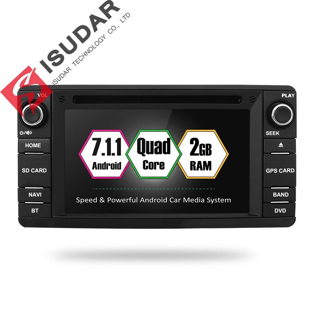 Isudar Auto Multimedia player 2 din Auto DVD android 7.1.1 6.2 pollice Per Mitsubishi/Outlander/Lancer/Asx 4 core 2 gb di RAM Radio GPS