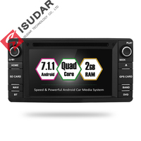 Isudar Car Multimedia player 2 din Auto DVD android 7.1.1 6.2 Inch For Mitsubishi/Outlander/Lancer/Asx 4 Cores 2GB RAM Radio GPS