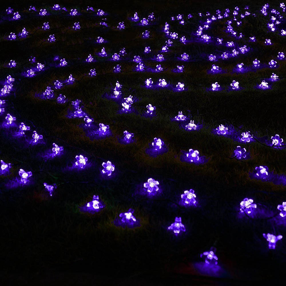 jiaderui christmas outdoor solar light string 7m 50 led waterproof flower garden home fairy new year party decoration lighting in led string from lights