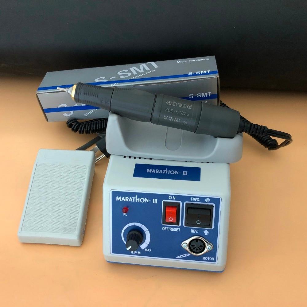 Dental Lab MARATHON Micromotor Machine N3 35K RPM Polishing Handpiece Or E Type Electric Motor Contra Angle & Straight Handpiece