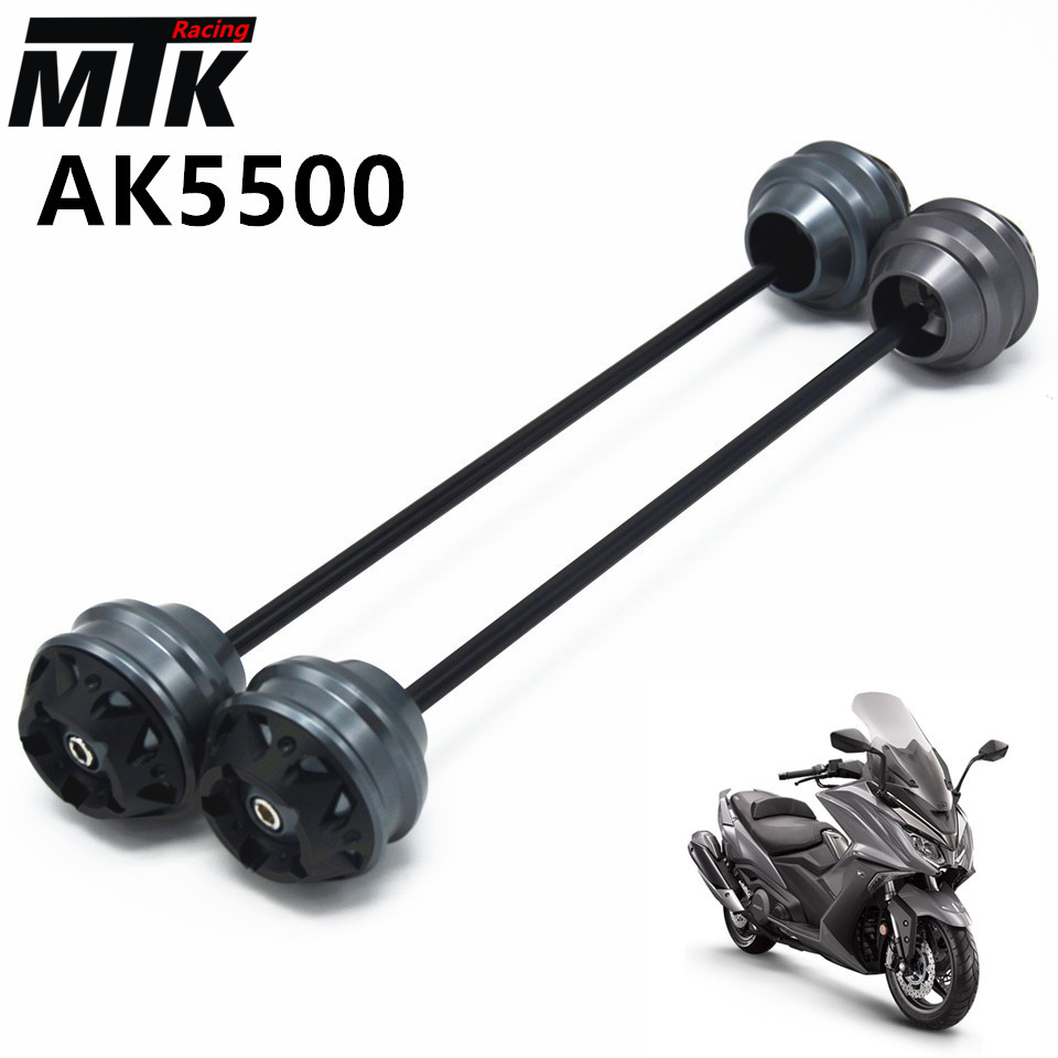 MTKRACING Free shippin For KYMCO AK550 2017-2018 CNC Modified+Motorcycle Front wheel drop ball / shock absorber mtkracing for kymco ak550 motorcycle parts headlight protector cover screen lens ak 550 2017 2018