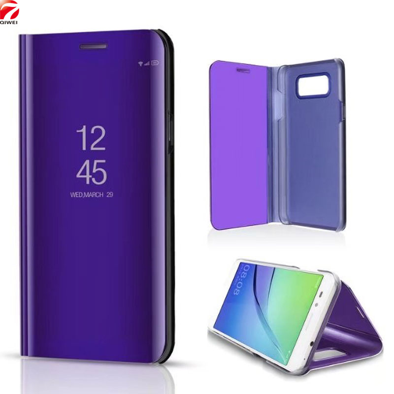 For Samsung Galaxy J7 Neo Case J701 J701F J701M Core Clear Mirror Flip PU Leather PC Back Cover for Samsung J7 NXT J701F/DS Case