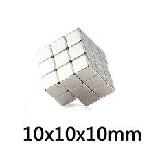 * 50/100/500 Pcs Magneti Al Neodimio Cubo di 10*10*10 Millimetri Blocco di Super Strong Rare terra N35 10X10X10 Mmart Mestiere di Connessione